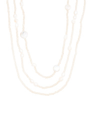 3 Row Champagne Pearl Necklace