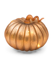 Glass Led Pumpkin
