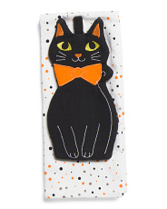 Set Of 2 Cat Kitchen Towels With Pot Holder