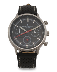 Men's Fairfax Perforated Leather Strap Watch