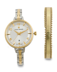 Women's Set With Torrey Bracelet Watch And Matching Bracelet