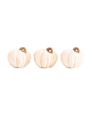 Set Of 3 Resin Pumpkins