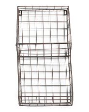 Standard Metal Tapered Rectangle Wall Basket