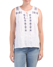 Tank Top With Tassels
