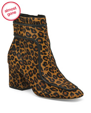 Leopard Haircalf Boots