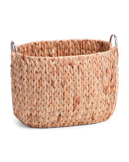Small Havana Natural Oval Laundry Bin