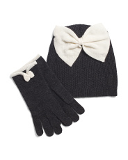 Wool And Cashmere Blend Hat And Gloves Box Set