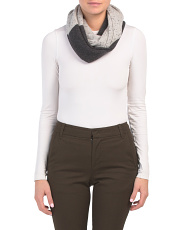 Color Block Cashmere Infinity Scarf