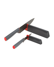 2pk Slice And Sharpen Stainless Steel Knives