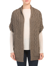 Made In Ireland Open Dropped Shoulder Cardigan