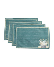 Set Of 4 Hand Picked Script Placemats