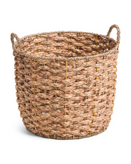 Small Round Natural Braided Basket