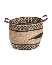 Large Natural Seagrass Round Basket
