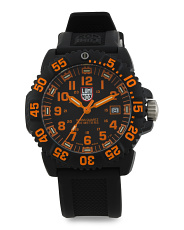 Men's Swiss Made Colormark Silicone Strap Watch