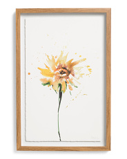 12x18 Orange Flower Wall Art