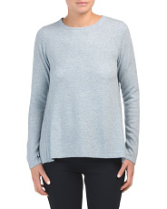 Cashmere Ribbed Back Sweater