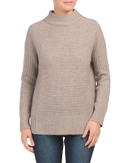 Cashmere Mock Neck Ottoman Sweater