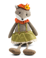 24in Plush Harvest Girl Fox