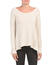 Juniors Crew Neck Tunic Sweater