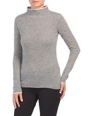 Cashmere Sweater With Tipping Detail