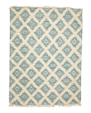 5x7 Flat Weave Tufted Wool Area Rug