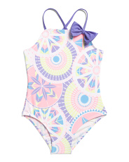 Little Girls One Piece Wild Child Swimsuit
