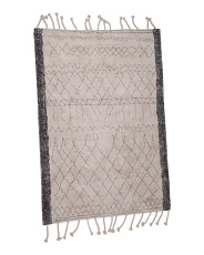 5x7 Moroccan Print Cotton Area Rug