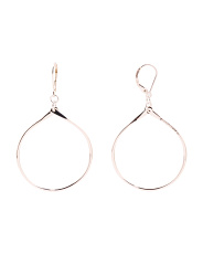 Made In Mexico Sterling Silver Lever Back Hoop Earrings