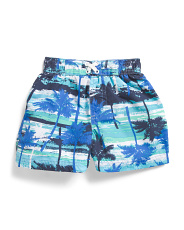 Infant Boys Palm Tree Swim Trunks