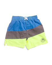 Toddler Boys Color Block Swim Trunks