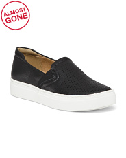 Leather Slip On Sneakers