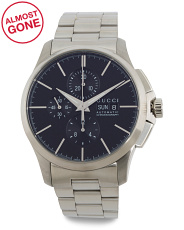 Men's Swiss Made Automatic Chrono Bracelet Watch