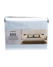 4pc 850tc Cotton Rich Sheet Set