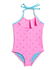 Little Girls Unicorn Ruffle One-piece Swimsuit