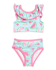 Infant Girls Watermelon Two-piece Swimsuit