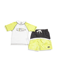 Little Boys 2pc Rash Set