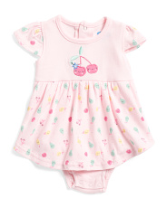 Newborn Girls Cherry Bodysuit