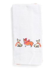 Set Of 2 Autumn Pups Kitchen Towels