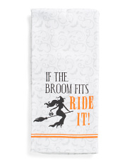 Set Of 2 Ride Witches Kitchen Towels