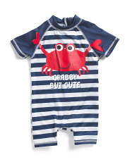 Infant Boys Crab Rash Suit