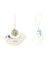 Made In Mexico Reversible Sterling Silver Stone Earrings