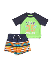 Infant Boys Team Chillax Rashguard Set