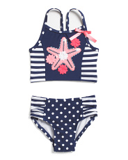 Infant Girls 2pc Starfish Swimsuit