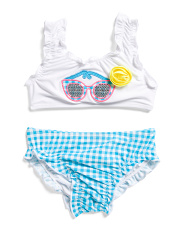 Infant Girls 2pc Sunglasses Swimsuit