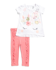 Infant Girls 2pc Unicorn Tunic And Legging Set