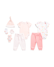 Newborn Girls 9pc Floral Layette Set