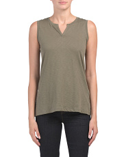 Pima Cotton Step Hem Tank