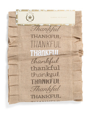 Burlap Thankful Runner