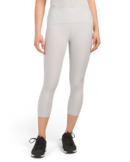 Scallop Hem Capri Leggings