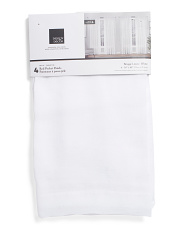 38x84 Set Of 4 Brugge Linen Look Curtains